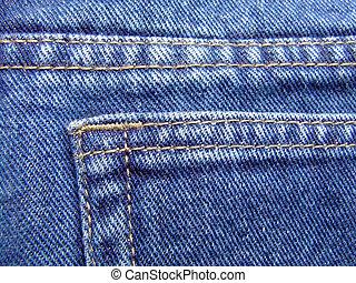 Jeans pocket - Blue jeans pocket closeup