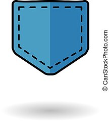 Jeans pocket vector icon