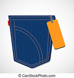 jeans pocket with tag