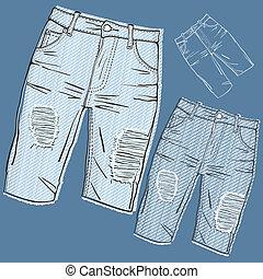 jeans, schäbig