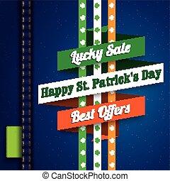 Jeans St. Patrick's Day Sale Ribbon