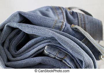 jeans, stapel, broek