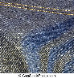 jeans, struttura, fondo