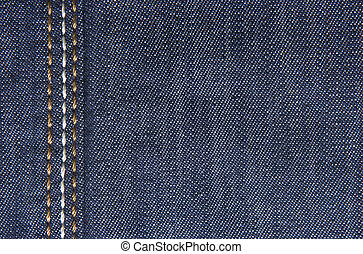 Jeans textiles - Blue jeans fabric with three stripes close...