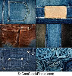 Jeans textures