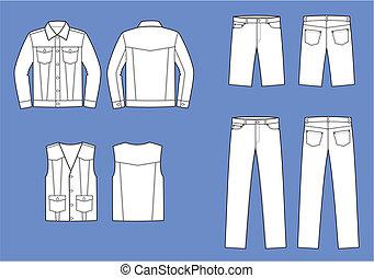 jeans, tragen