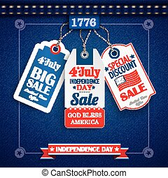 Jeans Vintage Independence Day 3 Price Stickers