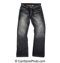 jeans, vrijstaand, op wit, achtergrond