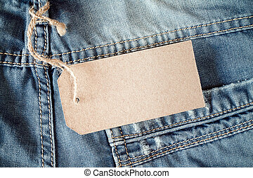 Jeans with blank tag