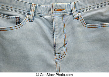 Jeans with pockets close-up for background