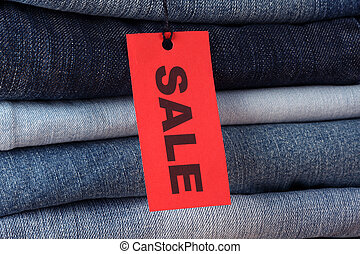 Jeans with Sale label