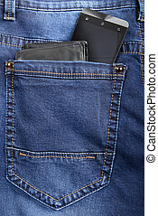 jeans with wallet and phone