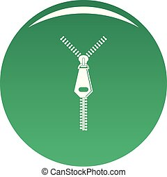 Jeans zip icon vector green