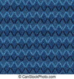 jeansstoff, blaues, seamless, halftone, pattern., argyle
