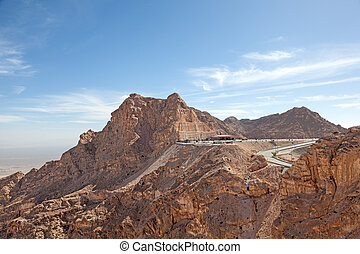 Jebel Hafeet mountains in the outskirts of Al Ain, Emirate of Abu Dhabi, UAE