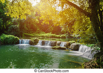 Jed-Sao-Noi (Little Seven-girl) Waterfall at Saraburi,...