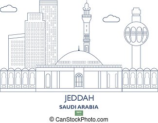 Jeddah City Skyline, Saudi Arabia