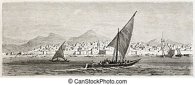 Jeddah old view, Saudi Arabia. Created by Girardet after...