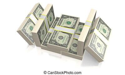 jeden dolar, dzioby, -, $1
