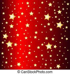 jeden, ilustrace, o, jeden, červené šaty zlatý hřeb,...