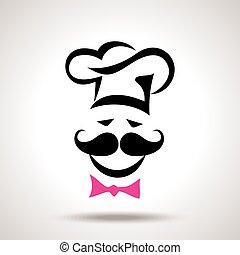 jeden, moderní, neposkvrněný, vrchní kuchař