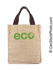 jeden, recyklovat, ekologie, nákupní taška, afrika