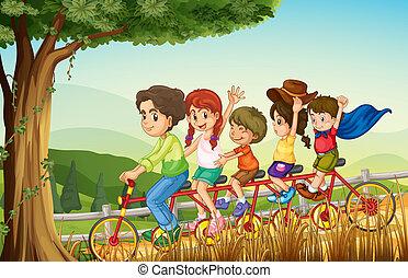 jeden, skupina k národ, jízdní kolo