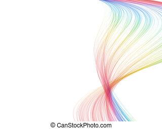 jeden, spektrum, barva, mávnutí