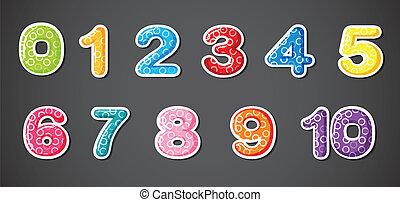 jedenaście, numeryczny, figury