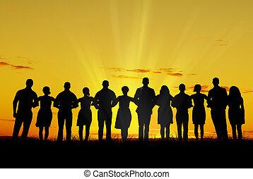 jedność, mężczyźni, kobiety