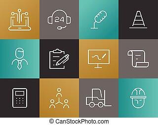 jednoduché vedení, povolání, pictograms, dát
