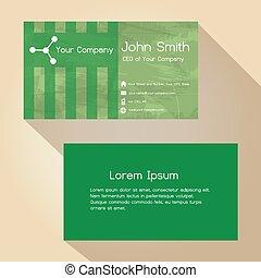 jednoduchý, abstraktní, nezkušený, noviny, barva, business card, design, eps10