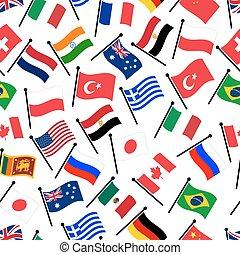 jednoduchý, barva, oblý, vlaječka, o, neobvyklý, země,...