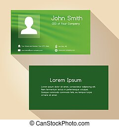 jednoduchý, mladický dělat resumé, barva, business card, design, eps10