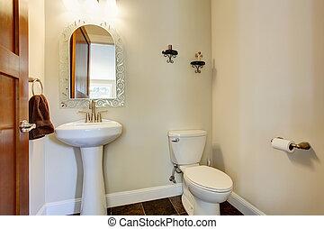 jednoduchý, vnitřní, koupelna