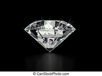 jednorazowy, diament