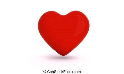 jednorazowy, serce, pobicie