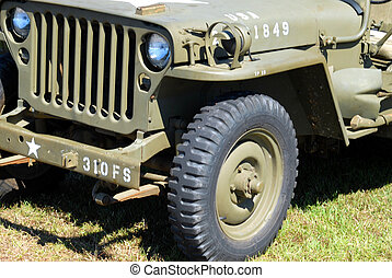 jeep, årgång, militär