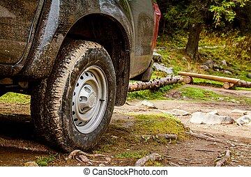 jeep, auto, offroad, vuil, avontuur, spoor
