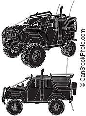 jeep, coche, offroad