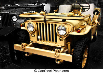 jeep, collectable, ww2, vieux, véhicule