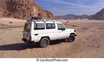 jeep, désert