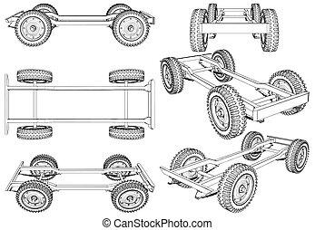 Jeep Four Wheels Suspension S... - Jeep Wheels Suspension...