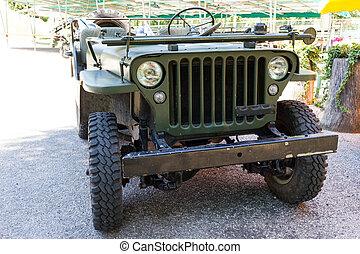 jeep, groene