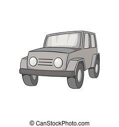 Jeep icon, black monochrome style