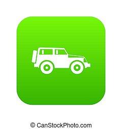 Jeep icon digital green