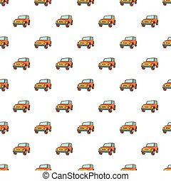 Jeep pattern, cartoon style