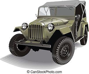 jeep, retro, armee