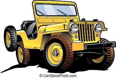 jeep, retro