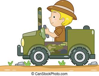 jeep, safari